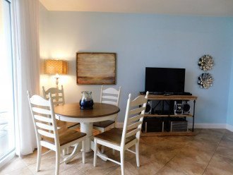 Dining area w/ gulf view is perfect for family dining ~ playing games together