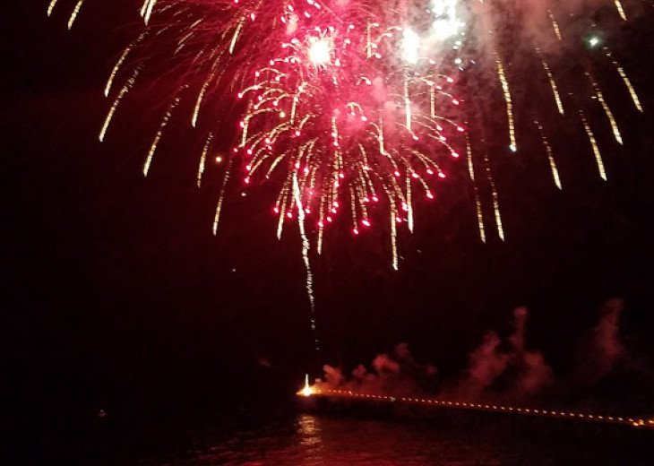 View of the fireworks display from your private balcony!