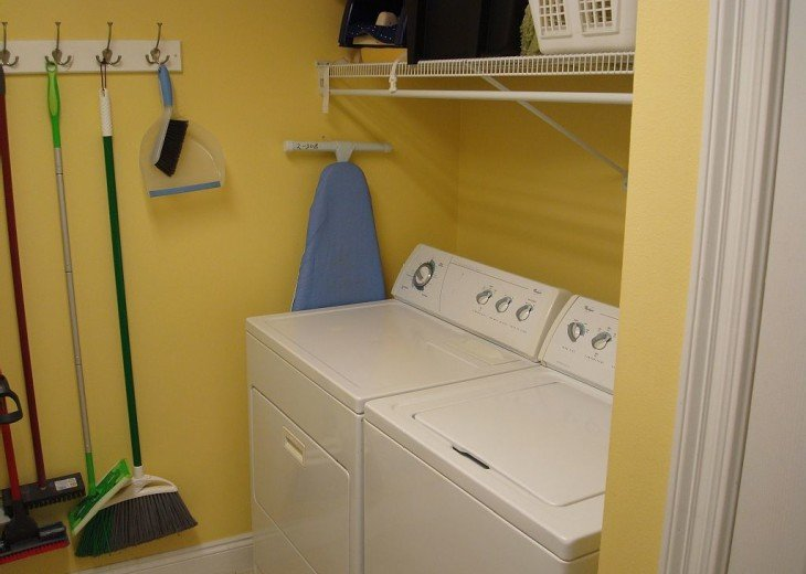 There's also a convenient, in-unit laundry room with full size washer and dryer