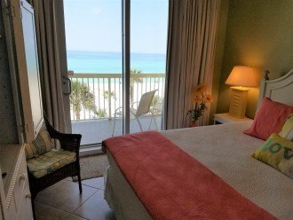 Master has private balcony access w/ spectacular Gulf of Mexico views