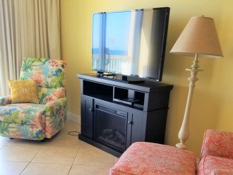 Large Flat screen TV in the main living area with extended channels & FREE WIFI!