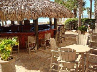 Calypso's full service Tiki Bar is located between the pools & beach access
