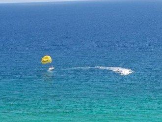 ... to parasailing....