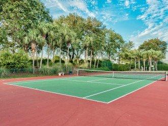 Tennis court, shuffleboard and basketball court