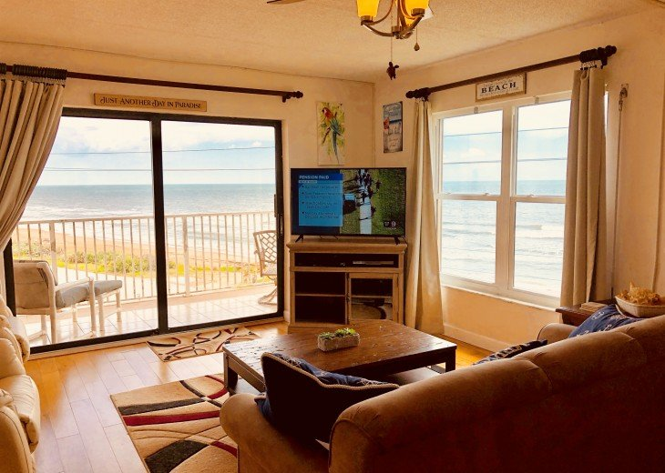 Like New! Large Ormond Beach 4th Floor Corner Oceanfront 2/2 Condo Sleeps 6 #2