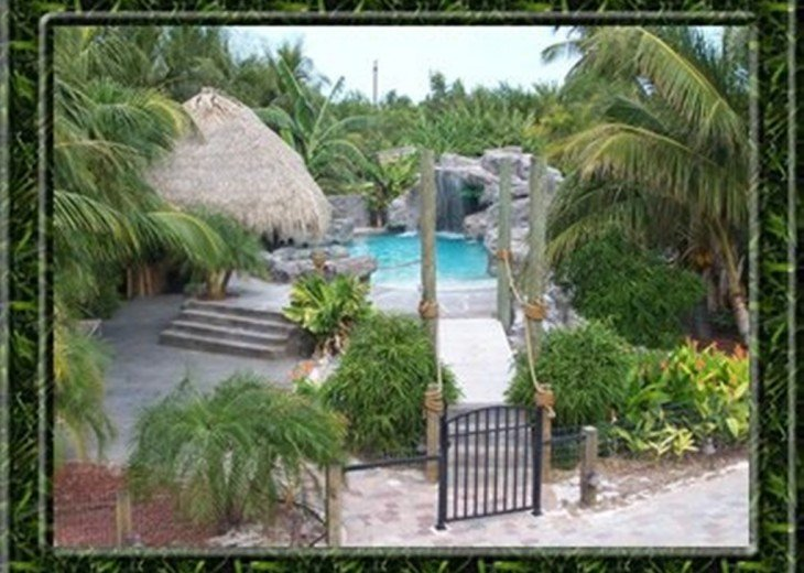 Palm Villa Key West's only real beach house, private and gated. #7