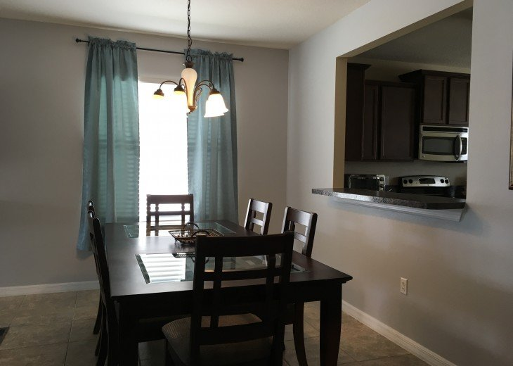 Dining Area With Pass Thru To Kitchen