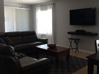 Living Room with 55 inch Flat Screen TV