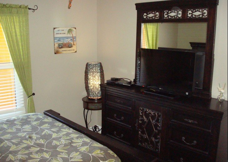 1st guest room also has a flat screen TV & large dresser for your personal items