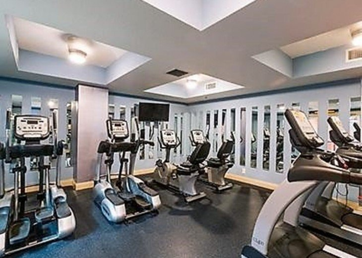 Calypso Resort On-site Fitness Center w/weights, treadmills, bikes & ellipticals