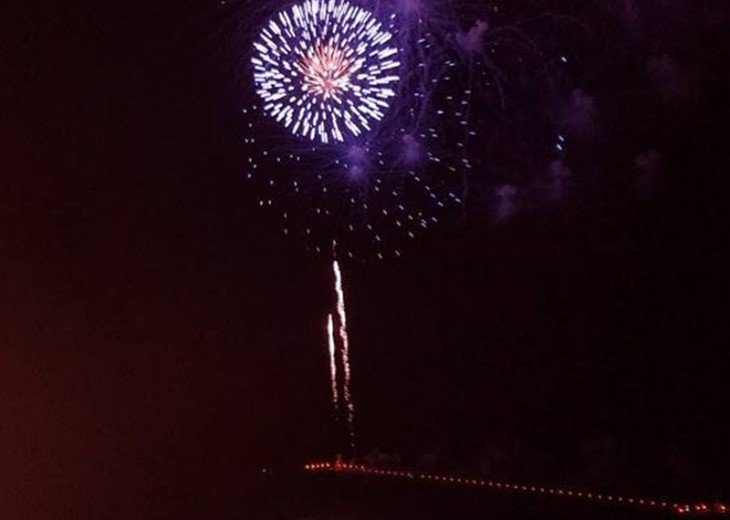 Fireworks displays from the end of the City Pier all from your private balcony