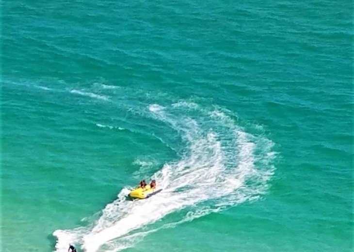 Calypso Beach has lots of fun things to do~jet skiing, banana boats, parasailing