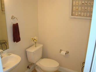 Half bath is clean & convenient for guests
