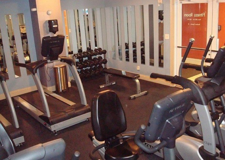 Calypso onsite fitness center~ free weights, treadmills, bikes & ellipticals