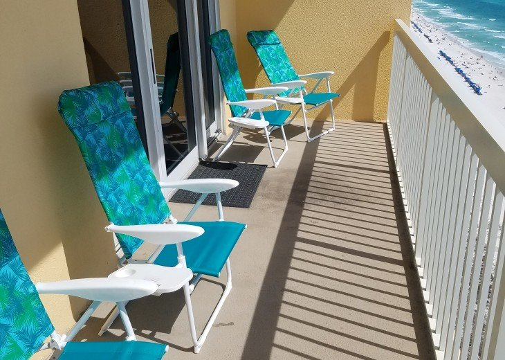 Balcony is perfect to entertain family & friends or sit & relax