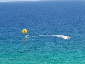 Several fun things to do at Calypso Resort Beach~ parasailing....