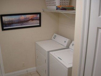 In unit laundry has a full size washer & dryer~throw in a load & go to the beach