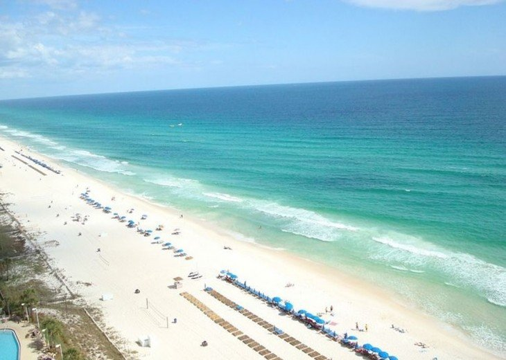 View to the east from your private balcony~The brilliant aqua blue Gulf~endless