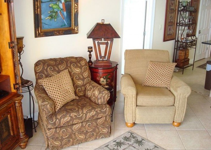 Comfortable extra seating in the main living area for the whole family