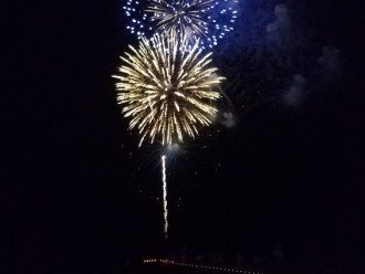 Fireworks display form the City Pier from your private balcony!