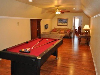 Game room upstairs, separate floor for kids and teenagers TV and DVD player