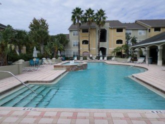 Pool area for sun or shade, relaxation n cookout. Favorite meeting place.