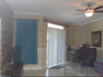 Drapes for privacy. Creates another room on the patio.