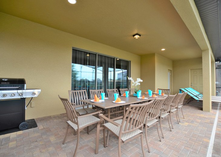 Patio table and BBQ Grill
