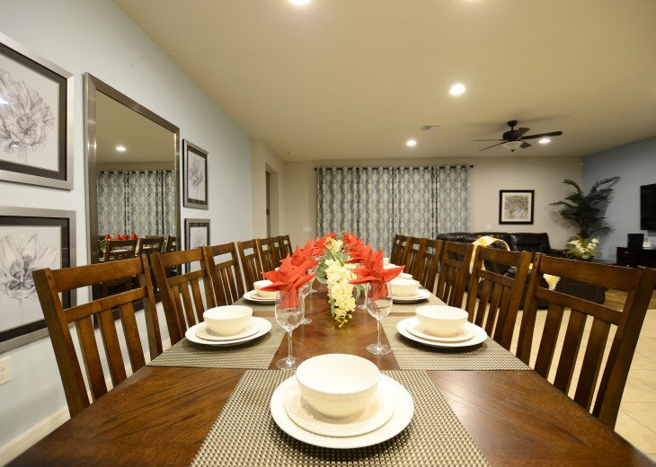 Dining table with 14 seats