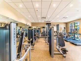 full gym at clubhouse