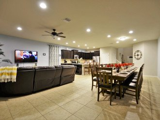 Dining and living area.