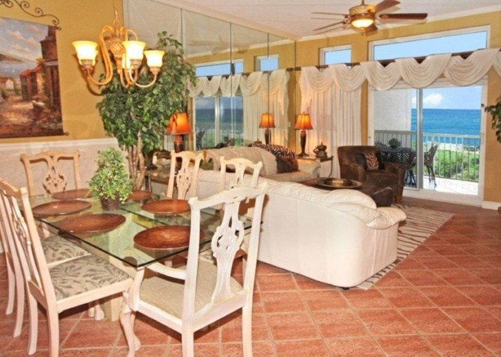Dining area with views, sits 6