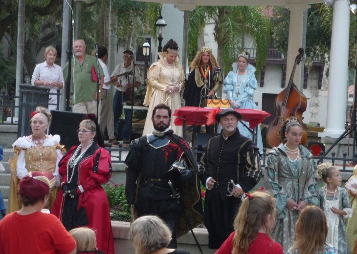 Saint Augustine Royal Family event at Plaza de la Constitucion_229
