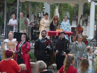 Saint Augustine Royal Family event at Plaza de la Constitucion_229
