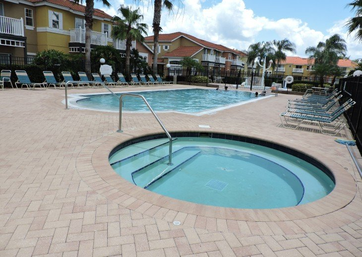 Resort heated pool and jacussi