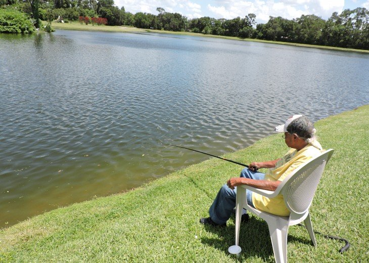 Free fishing on the Resorts 3 lakes
