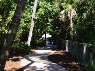 Path to beach, just steps away from building