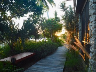 Walkway to dock along your private lanai