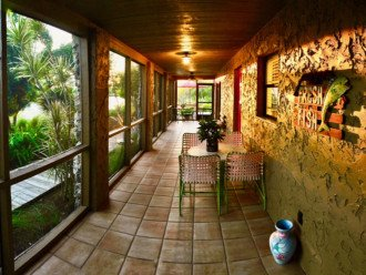 Private lanai and entry door to your rental