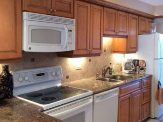 Granite counter top; Remodeled kitchen