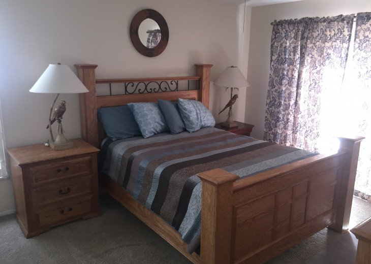 Master bedroom with King bed and ensuite bathroom