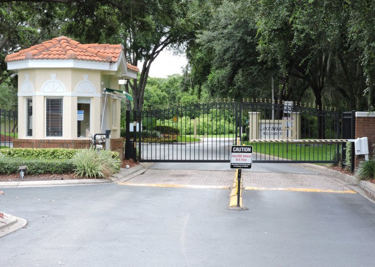 Gated entrance at lake Berkley