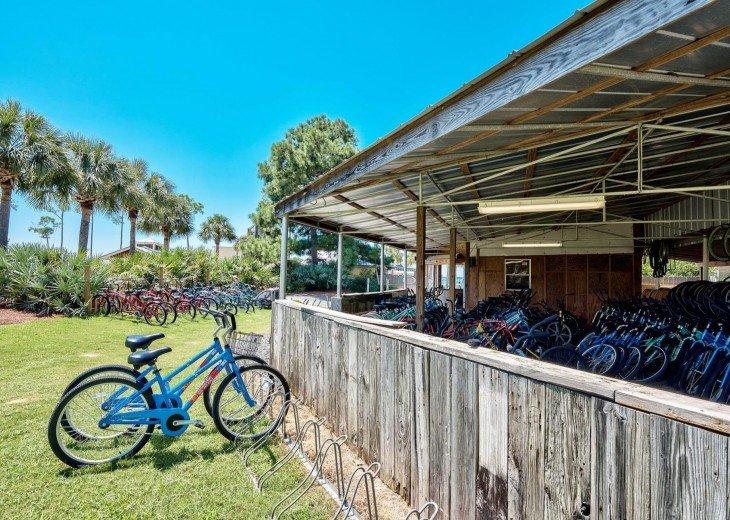 Bike rentals by marina on bayside of Sandestin