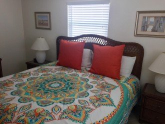 Master bedroom - king size bed and TV