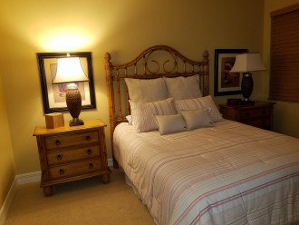 Bedroom #2 - Queen with Tommy Bahama Furniture and bedding.