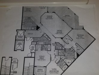 The floor plan (shown in reverse to depict the actual layout).