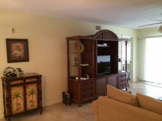 Entertainment Center with TV and DVR