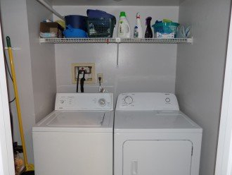 Full Size Washer and Dryer in Laundry Room in Condo