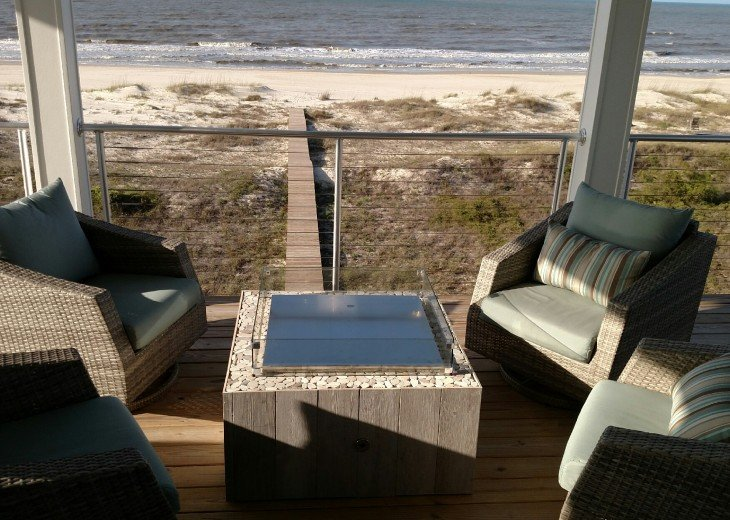 New, Gulf Front beach home with open concept and elevator. #49