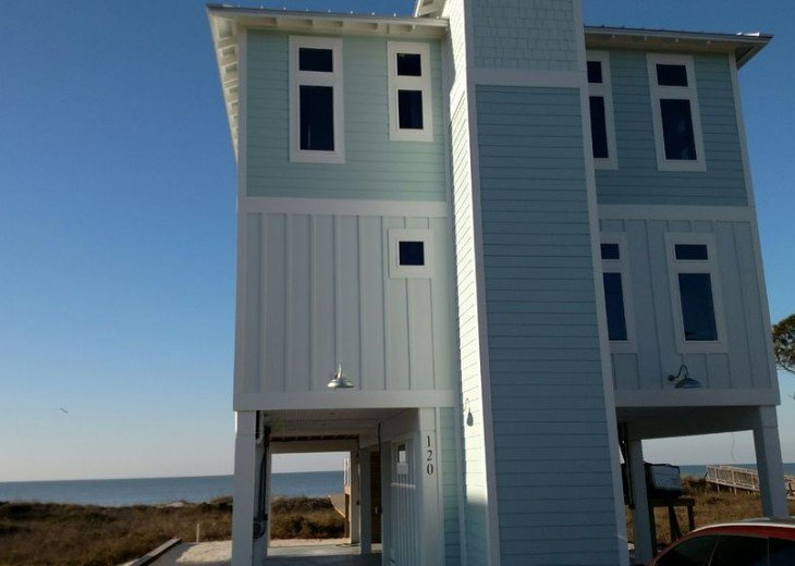 New, Gulf Front beach home with open concept and elevator. #2